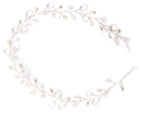 Item The bracelet on thread tiara hair SILVER Wedding