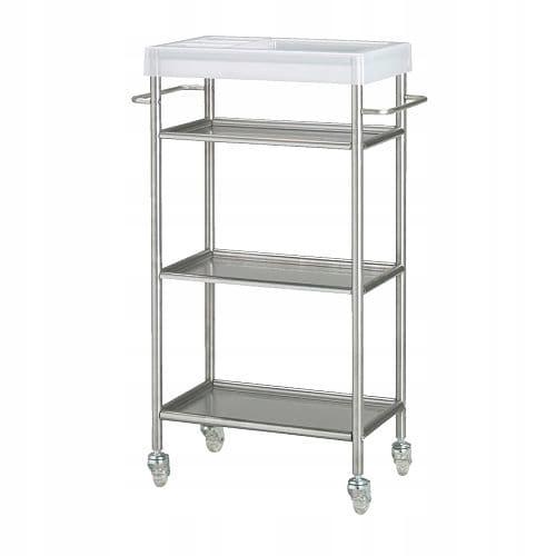 IKEA wózek GRUNDTAL 48x24x77 cm barek na kółkach