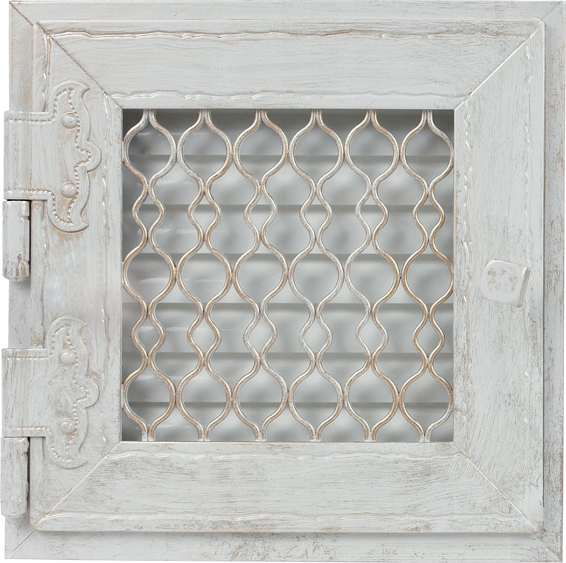 Retro jednoduchá starožitná biela mriežka, otvorená 22