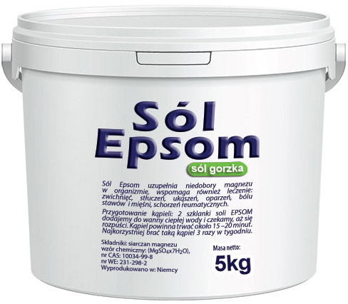 Item SALT the BITTER ROMAN BITTER MAGNESIUM SULPHATE 5kg