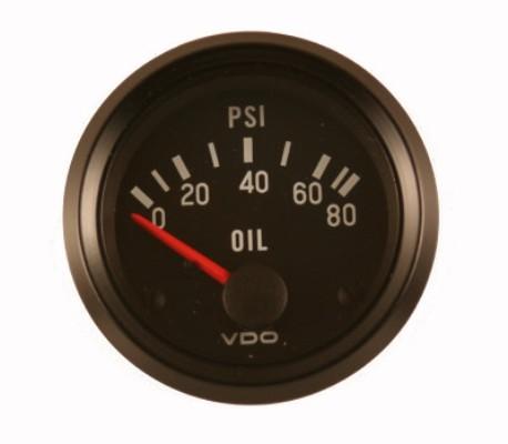 Таймер счетчика указателя давления масла VDO 0-80psi