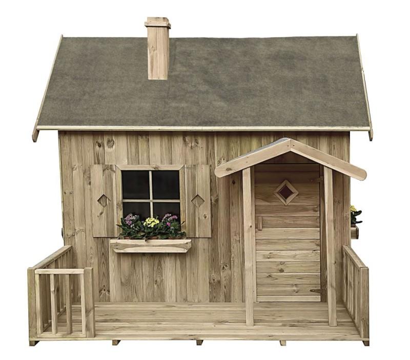 Drevený záhradný dom pre deti má nový!