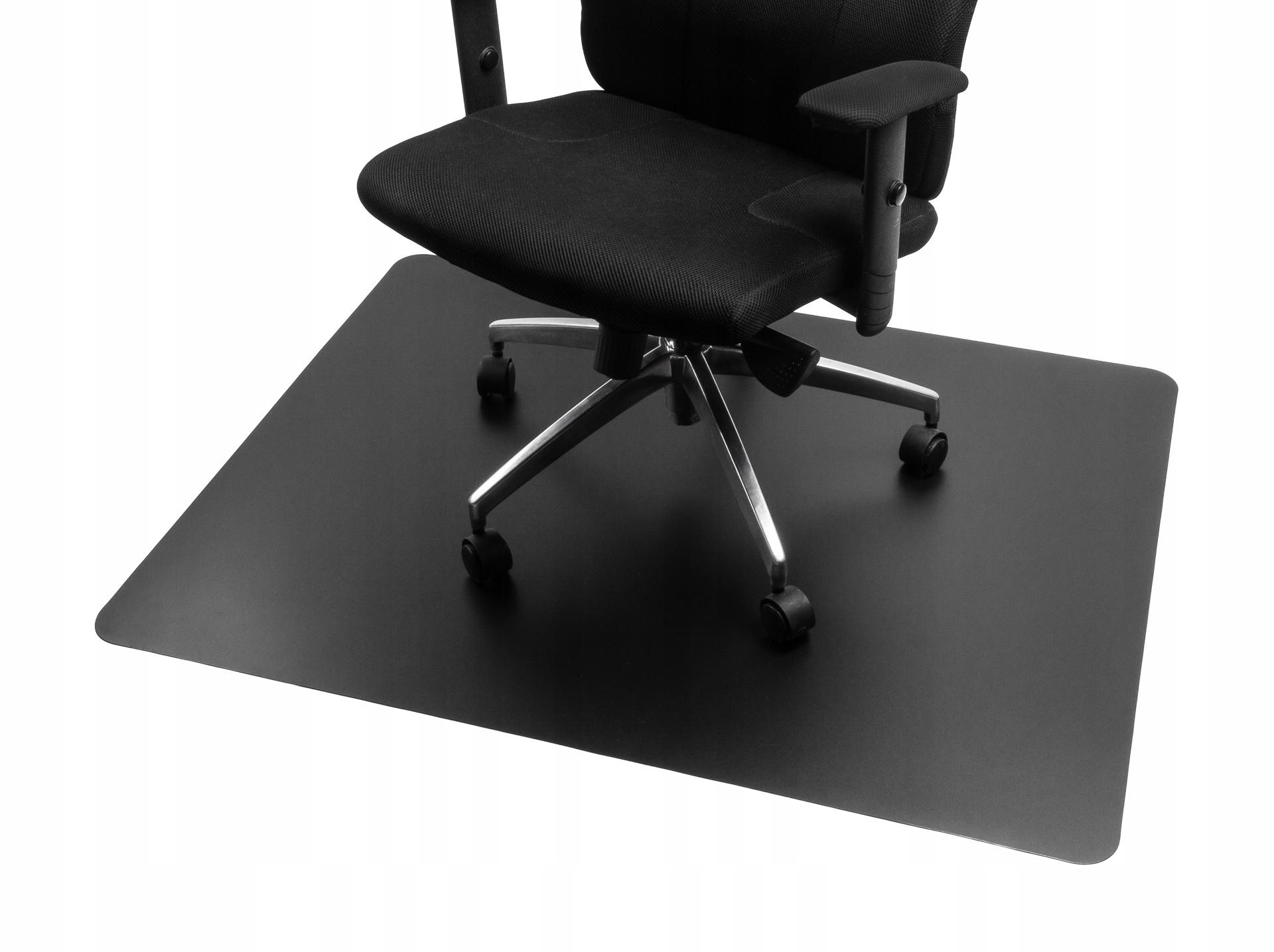 мат защитный черный под кресло кресло 120x100 cm