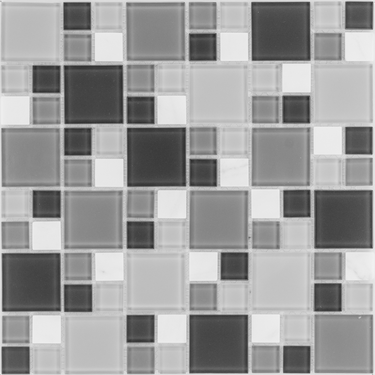 SK 54404 mozaikové sklo, mramor, biela, šedá