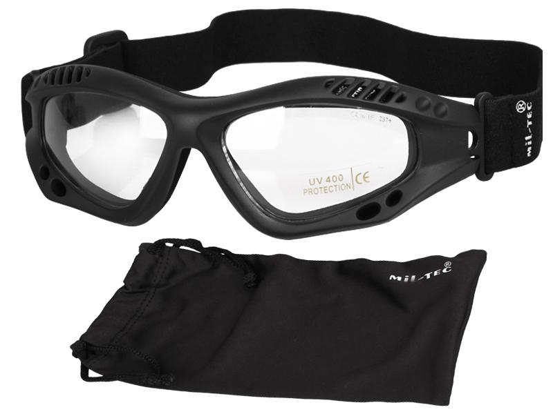 Commando Clear UV 400 ANSI Z87 + Tactické okuliare
