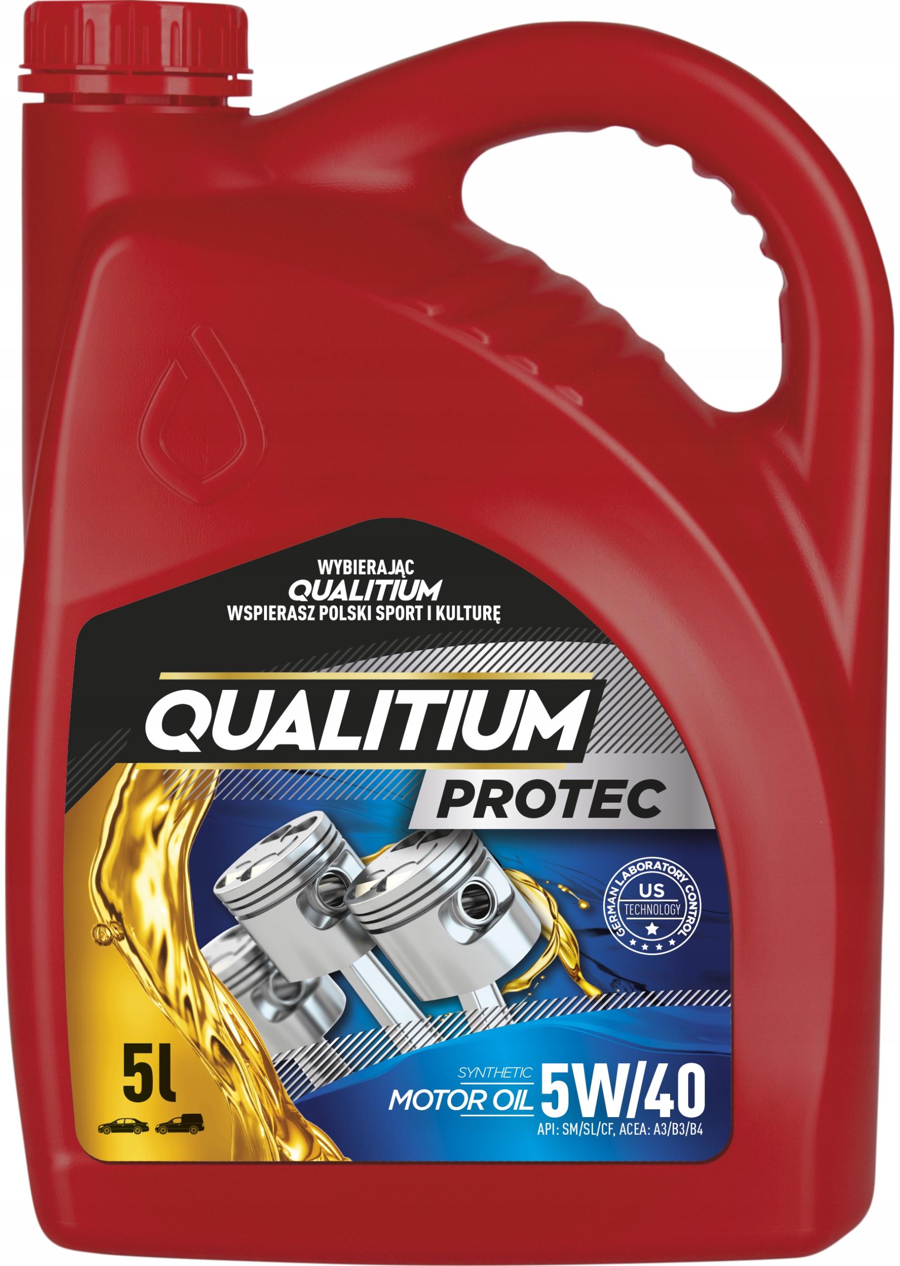 QUALITIUM PROTEC 5W40 5L Синтетическое масло