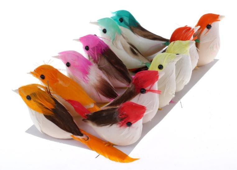 Vtáky ako skutočné, dekorácie pre všetko