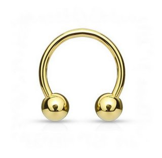 Item HORSESHOE GOLD BEADS - 1.2 mm/6 mm/3 mm - stainless STEEL 316L