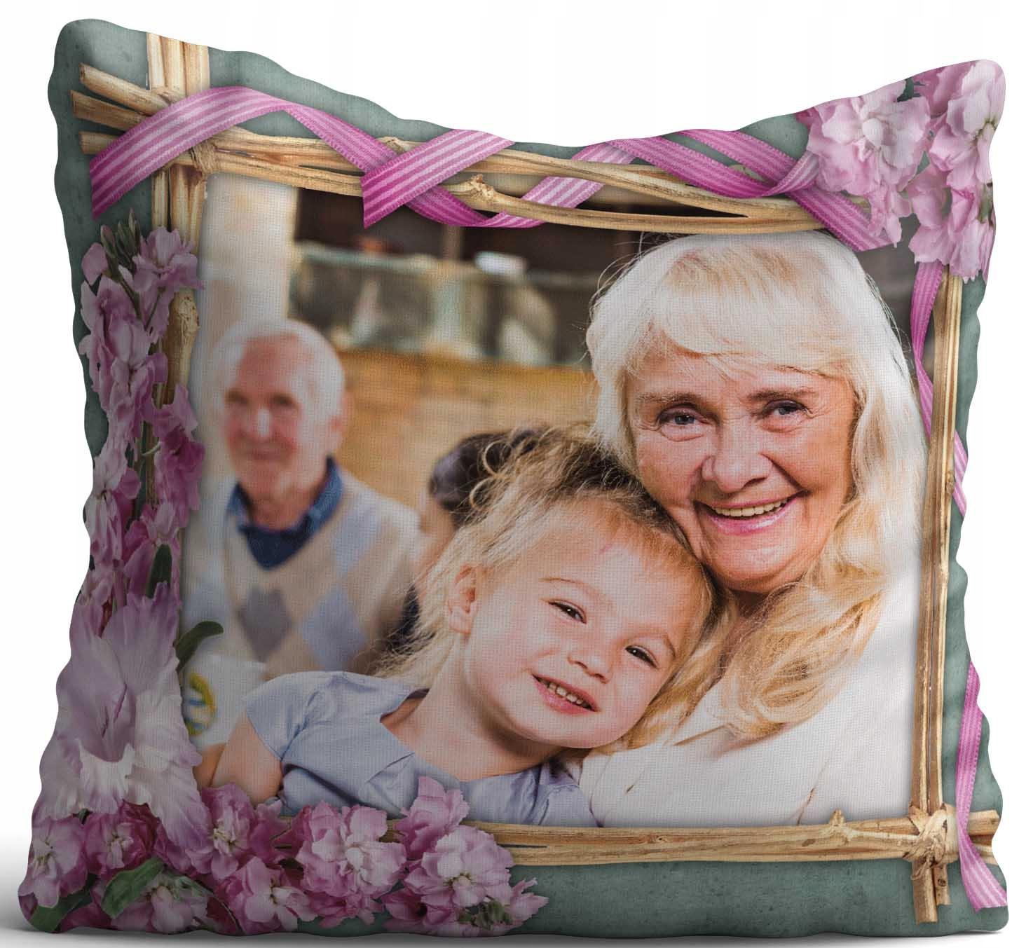 Подушка с фотографией подарок День Бабушки Деда