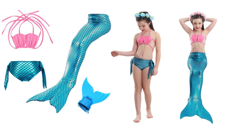 Хвост русалки в костюме русалки ARIEL holiday 140