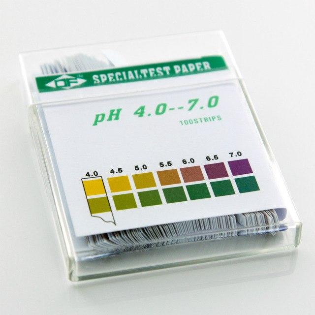 4-7 pruhy pre test pH v moči, vagíne - 100ks