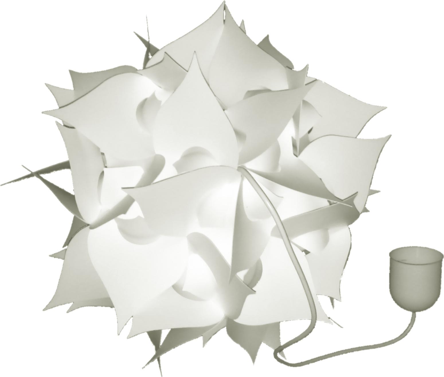 Závesná lampa biela sférická kw1 NOVINKA, d. 44 cm
