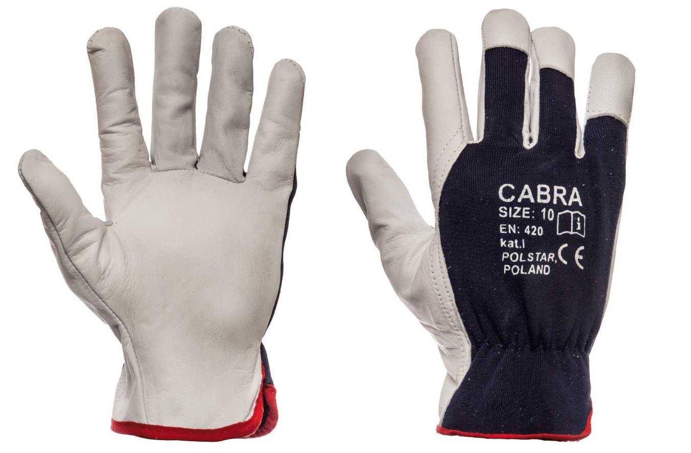 Rękawice skórzane skóra CABRA roz 10 - 12 par