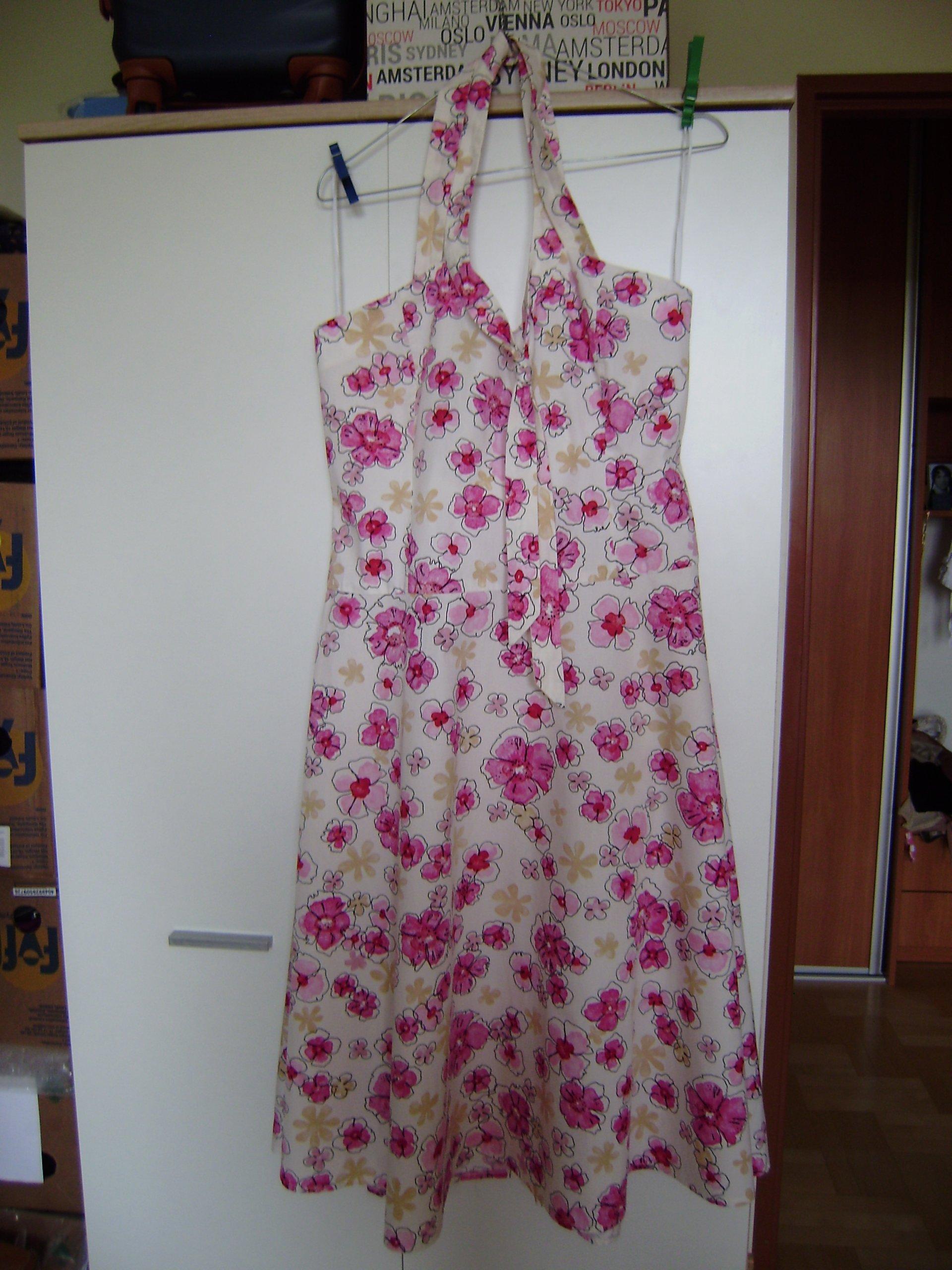 f139e2638a Sukienka beżowa w kwiaty ALWER rozm.12 100% bawełn 7251181521 - Allegro.pl  - Więcej niż aukcje.