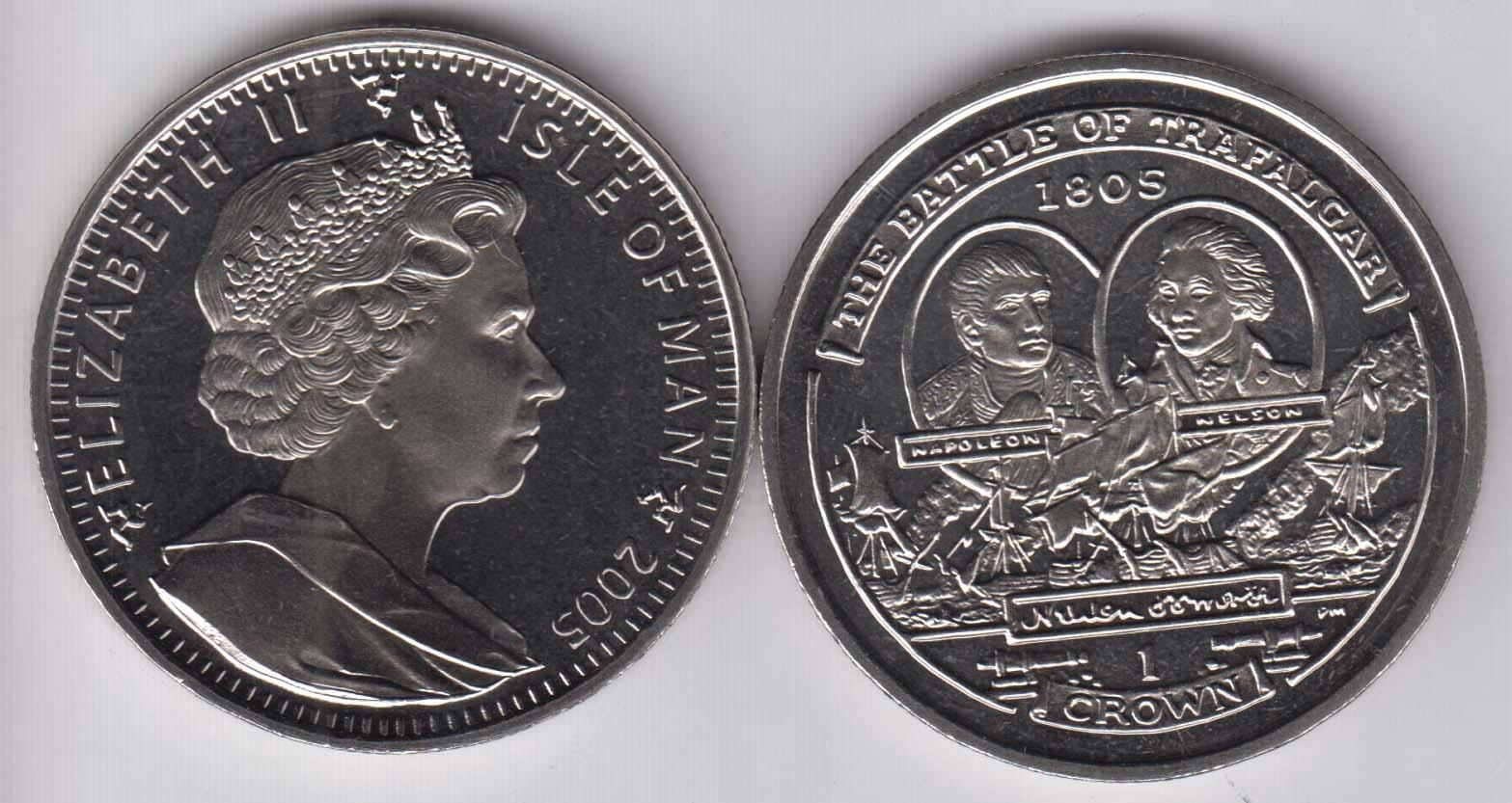 Isle of Man 1 Crown 2005 Trafalgar 3