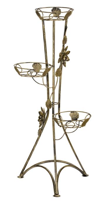 Kovový kvetinový stojan na 3 kvety 100cm 129c