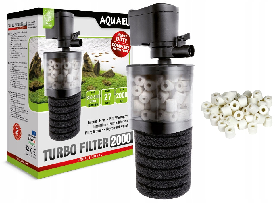 Внутренний фильтр Aquael Turbo filter 2000 минимальная производительность 0 л / ч
