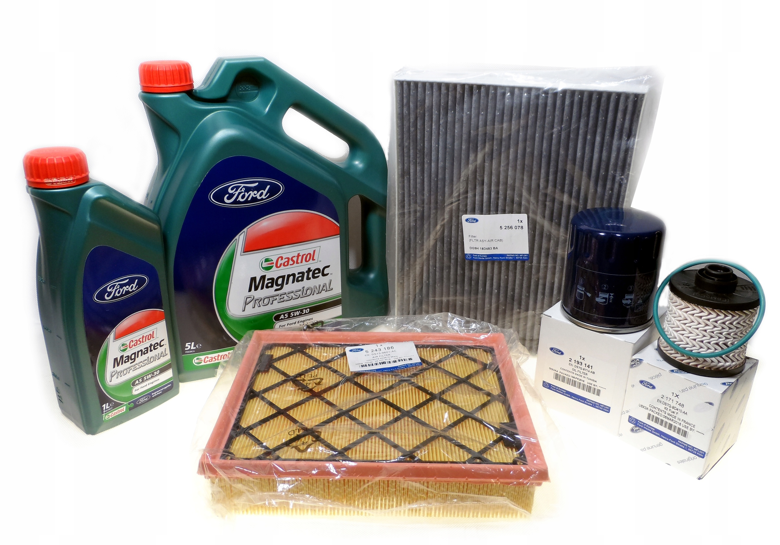 ford комплект фильтры масло 5w30 mondeo mk5 20 tdci