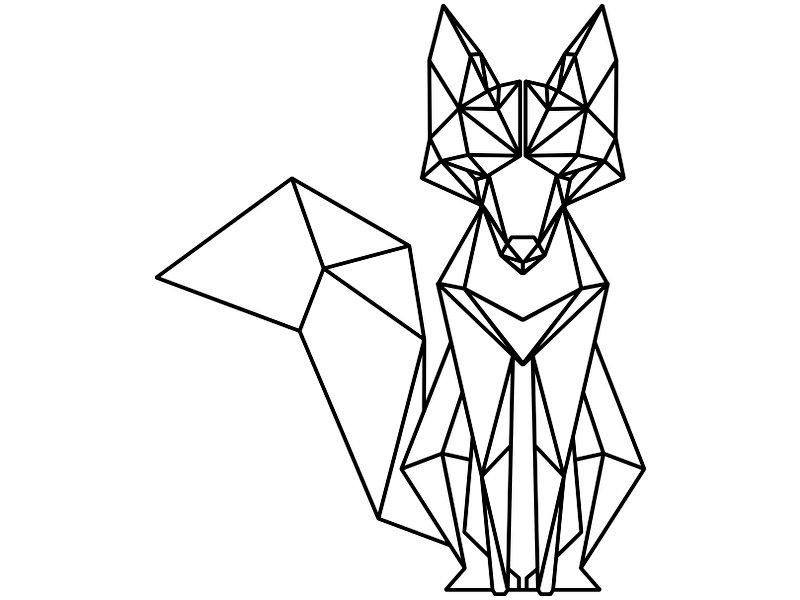 товар лиса из треугольников рисунок вариантом