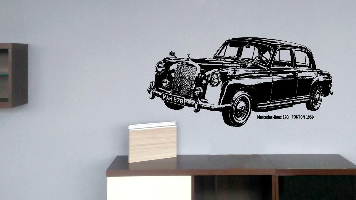 Nálepka Mercedes-Benz 190 Ponton 130x62 cm NR.42