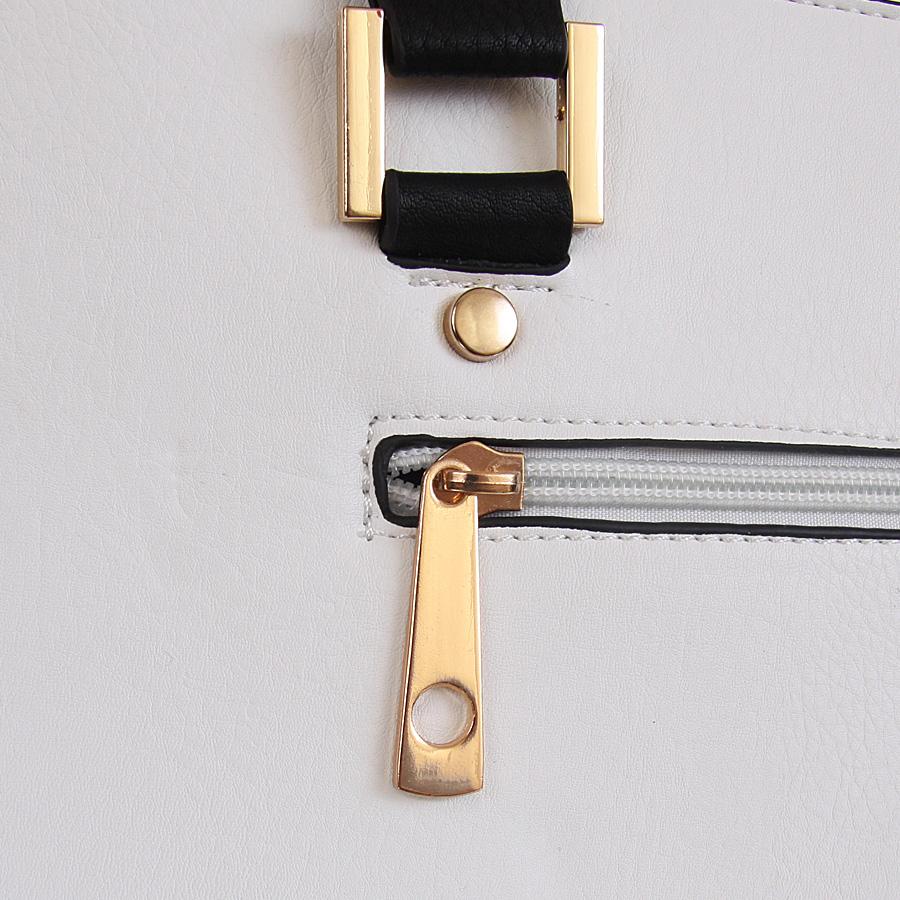 Torebka kuferek SANDRA sztywna trapez solidna