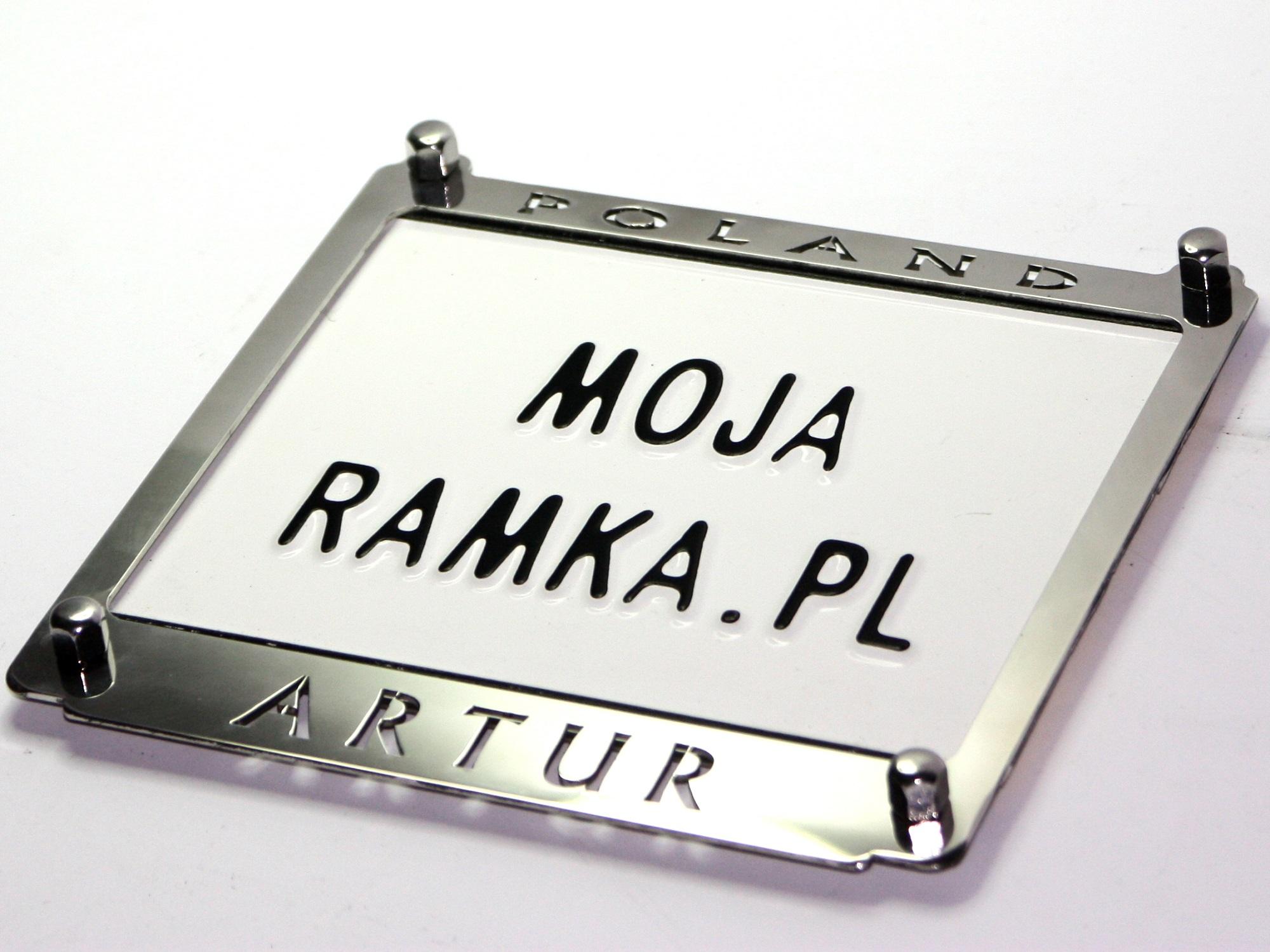 Рамка номерного знака мотоцикла ВАША НАДПИСЬ!