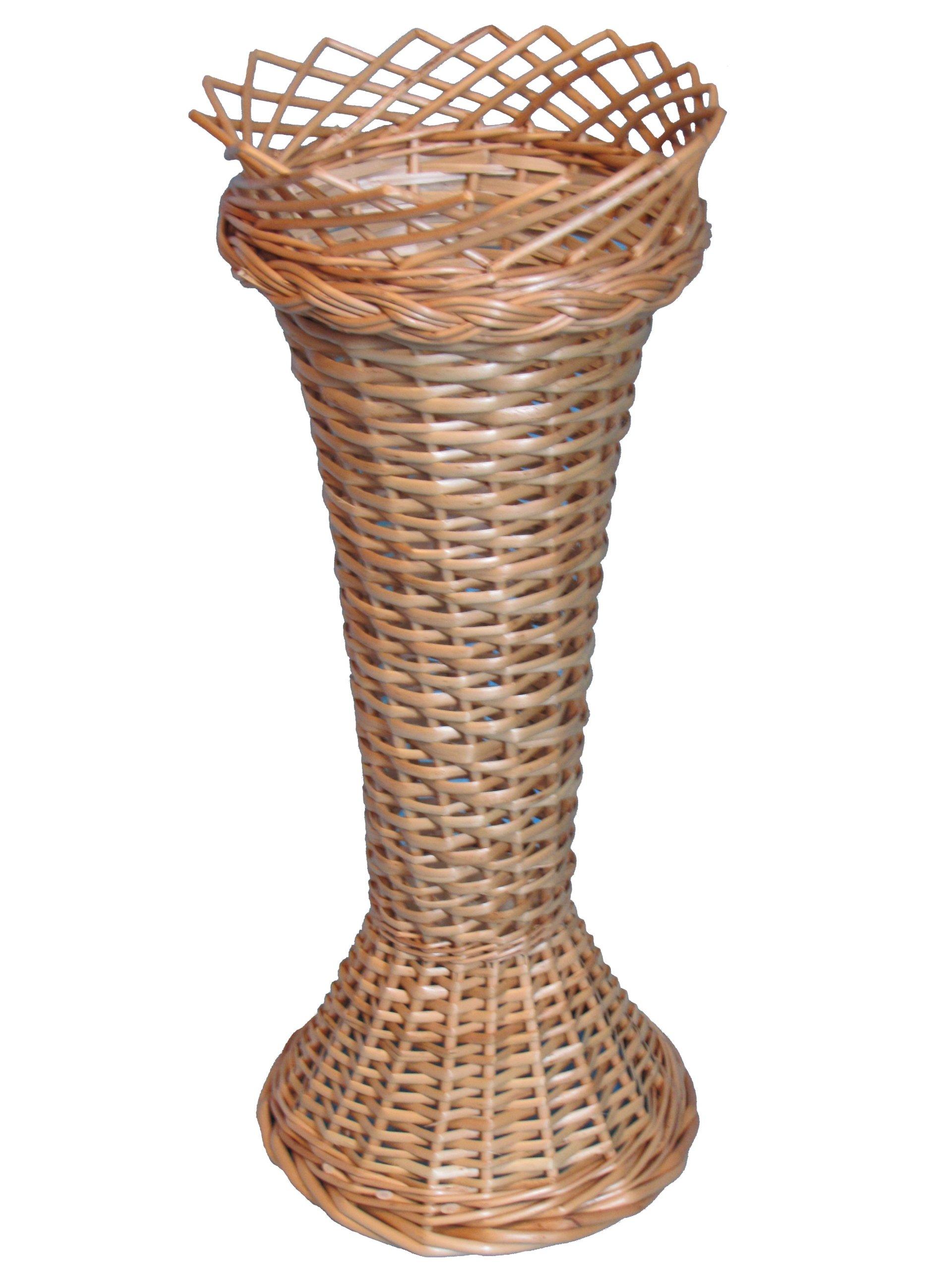 Wicker Vase dekorácie prútik fľaša 50cm