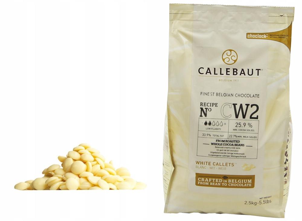 Čokoláda Pre Fontány, parné BIELA 2,5 kg Callebaut