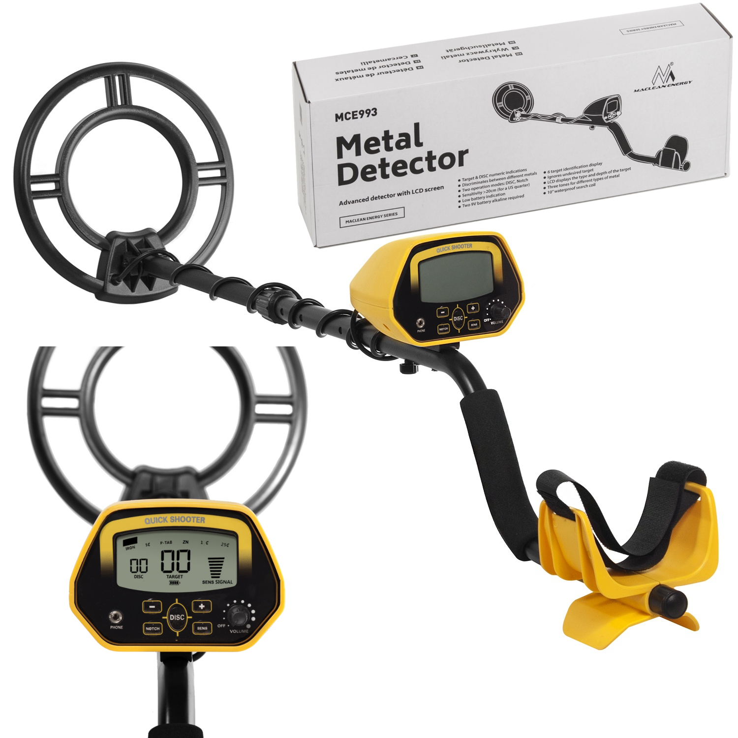 Item The METAL DETECTOR McLean MCE-993 Shooter