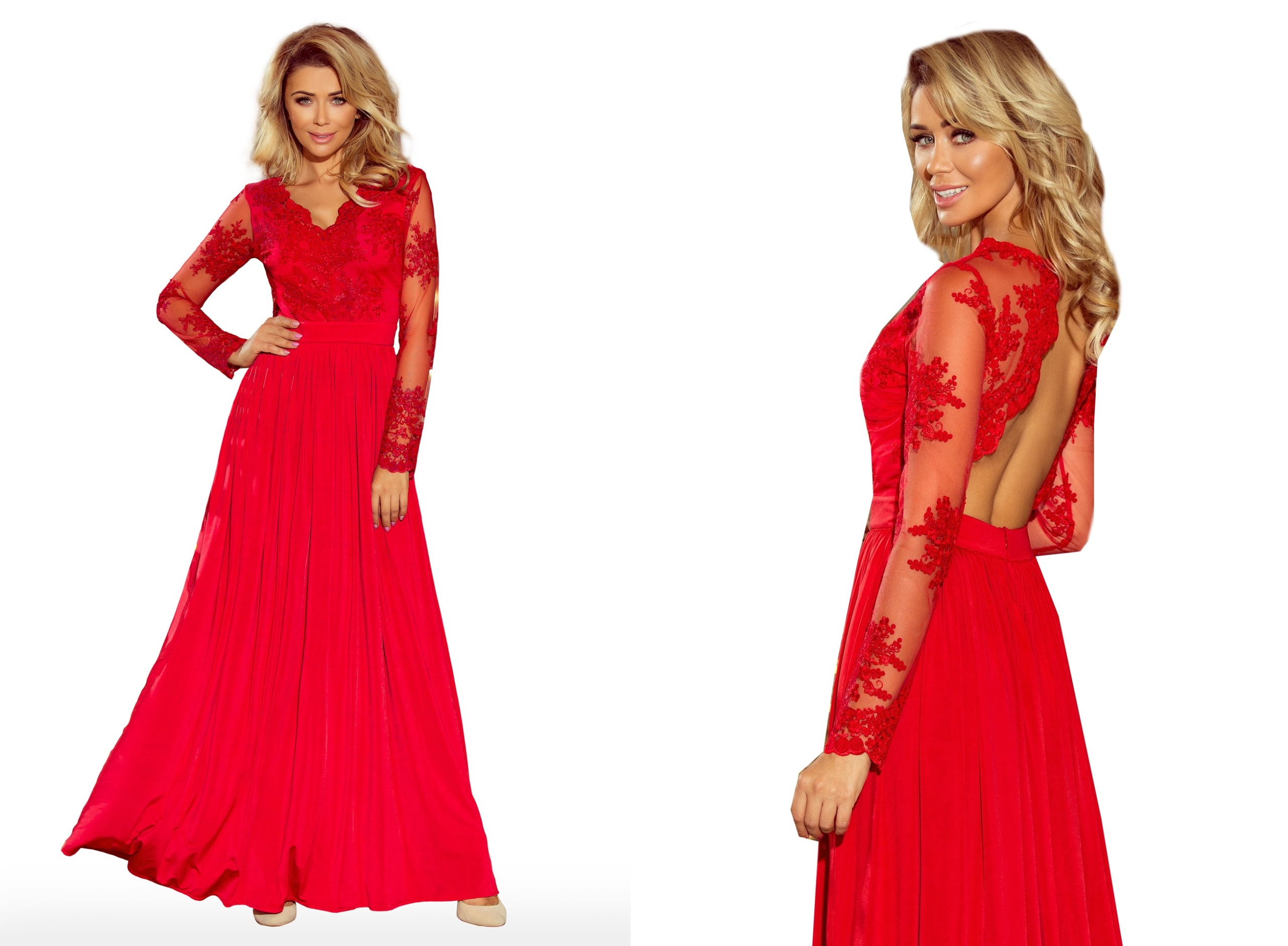 b18d0fab63 ROZKLOSZOWANA MAXI Sukienka SUKNIA BALOWA 213-3 S 7605396910 - Allegro.pl
