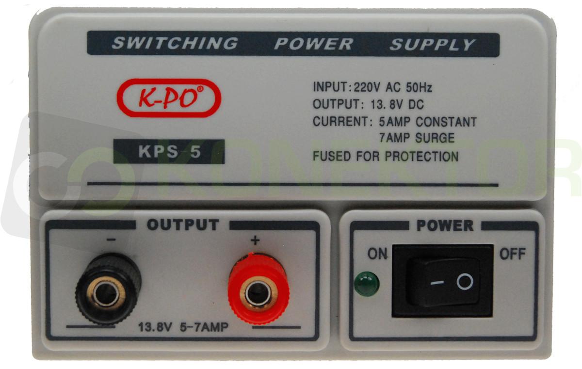 Item K-KPS-5 POWER SUPPLY RADIO STABILIZED 13.8 V 7A