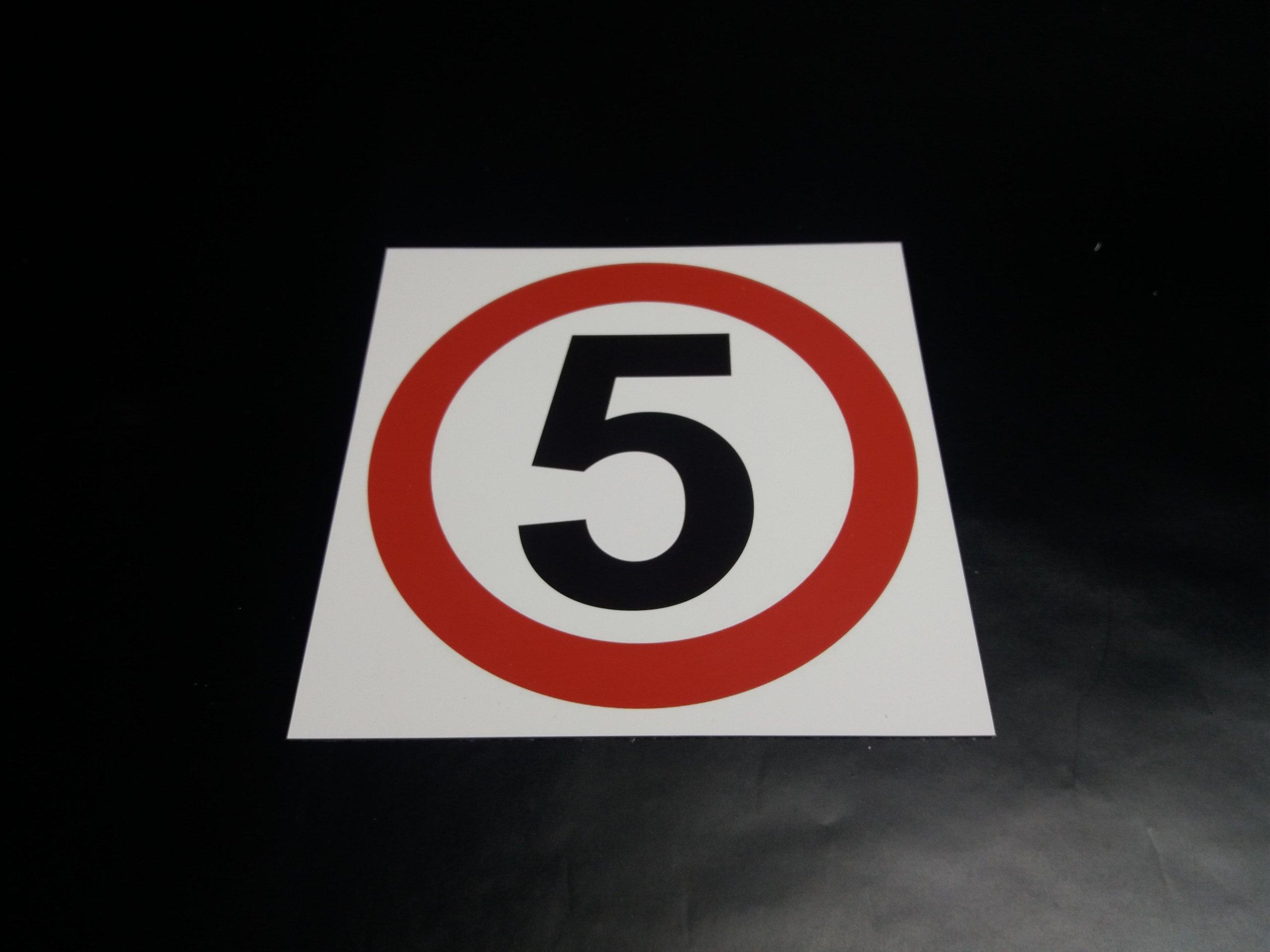 8c4115b7af20d4 TABLICA ZNAK OGRANICZENIE PRĘDKOŚCI 5 km/h 60x60 7170445086 - Allegro.pl