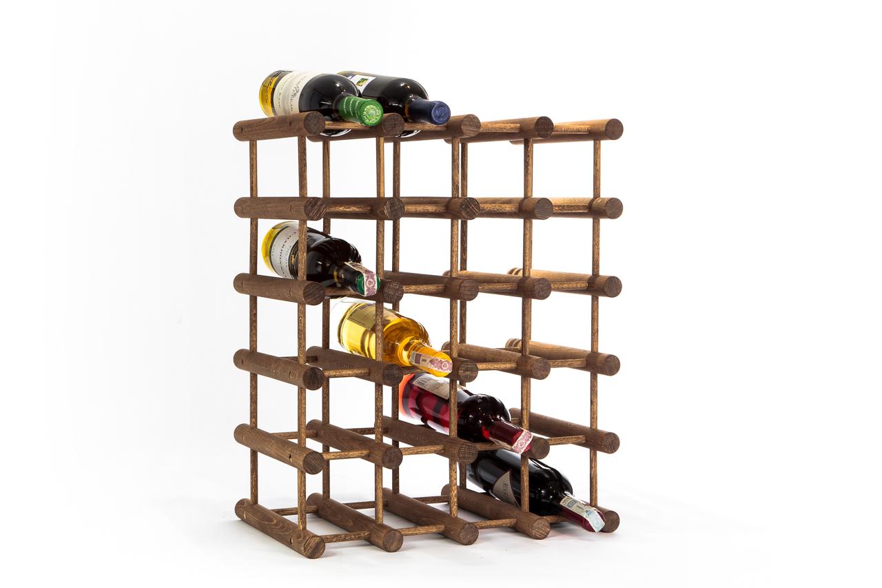 Olejowany MODUŁOWY Regał,stojak na wino 24 butelki