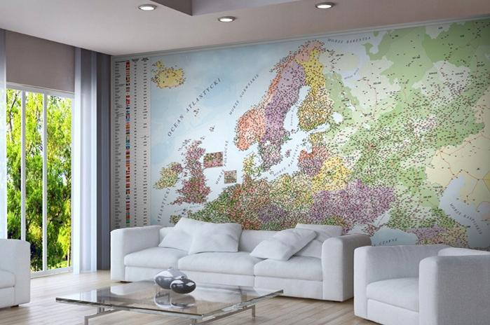 Водонепроницаемый Карта Польский Подсветкой ЦВЕТНАЯ