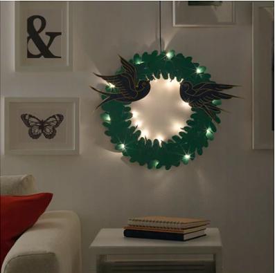 Závesné svietidlo IKEA STRALA LED girlanda zelené