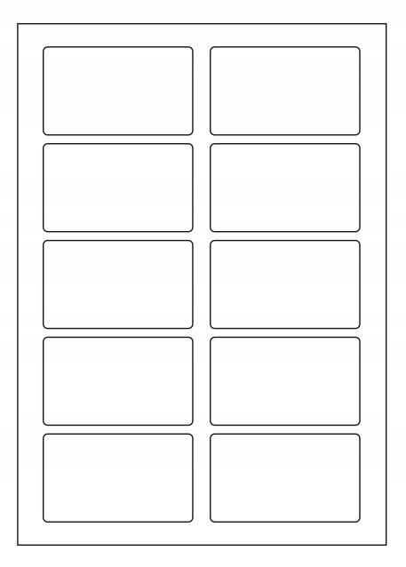 A4 listy samolepiace etikety 85x50mm / 10 ks
