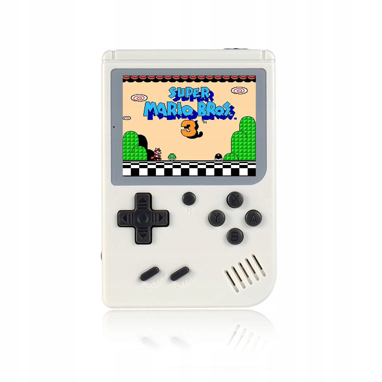 Item Mini portable Retro console with 168 games - White