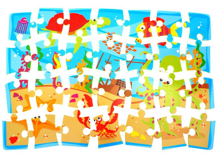 Piankowe miękkie puzzle zwierzątka autka ZA1389 Wiek dziecka 3 lata +