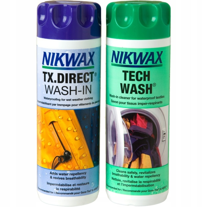 Nikwax Tech Wash 300 мл + TX. Direct Wash-In 300 мл