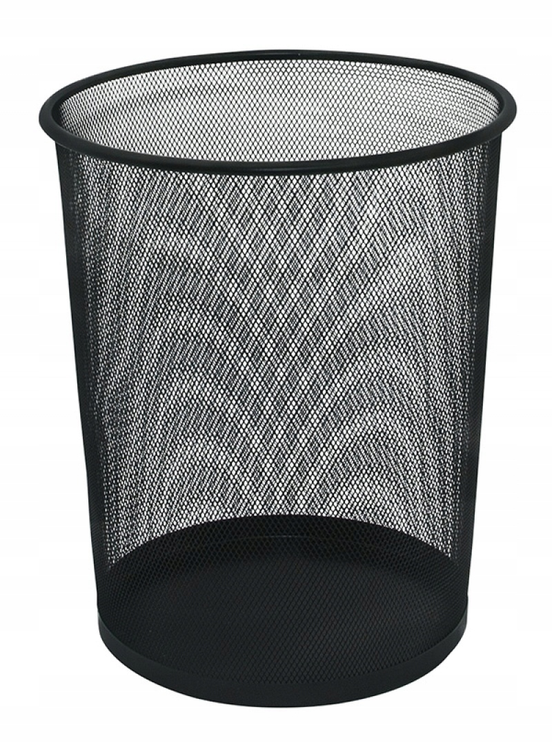 Item WASTEBASKET, MESH, METAL, 19L , BLACK