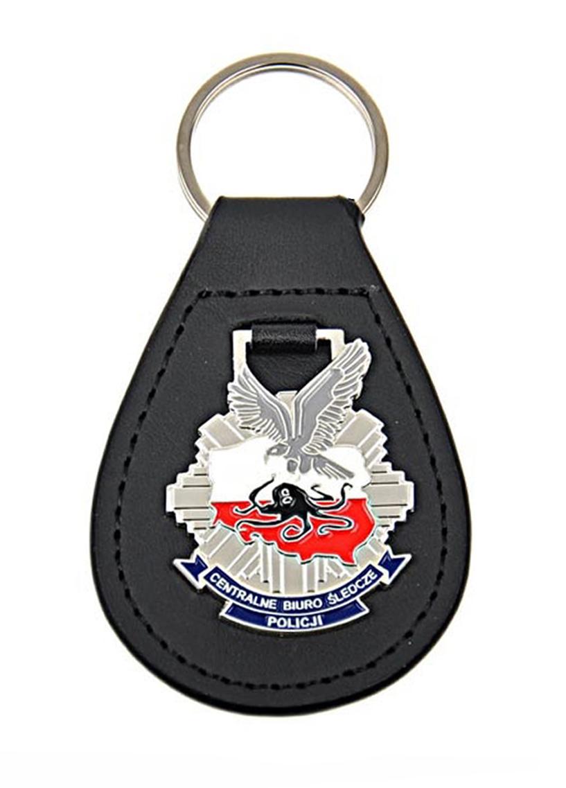 Badge CBŚ polícia stlačená klávesnica na koži
