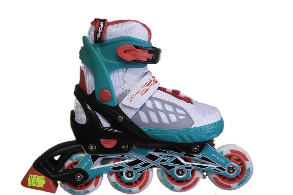 detské kolieskové korčule Spokey ROADI 40-43 tyrkysová