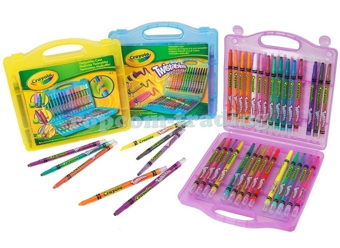 Crayola Pastelky Wykręcane 32 Farebné Ceruzky Kufor