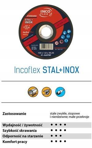 TARCZA DO CIĘCIA STAL+INOX 230 x1,9 INCO FLEX 25sz Kod produktu [Towar