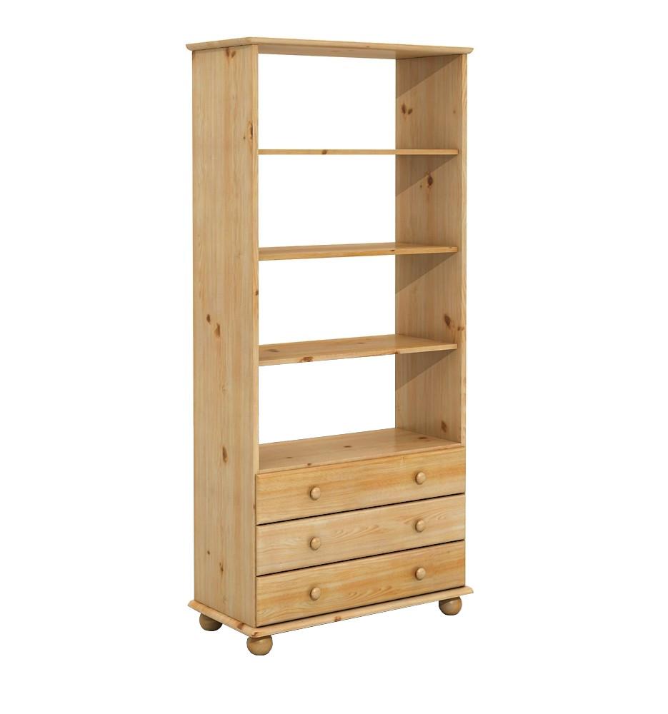 DSI-nábytok: Drevené borovica Rack 3S o barle