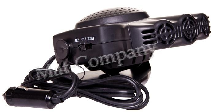 Обогреватель автомобильный вентилятор нагреватель 12в 160вт (фото 4) | Автозапчасти из Польши