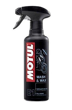 Спрей MOTUL E1 WASH&WAX очистка мотоцикла