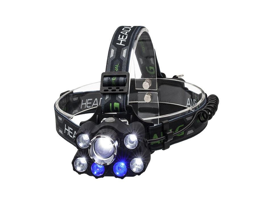 МОЩНЫЙ фонарик НАЛОБНЫЙ НАЛОБНЫЙ 9 LED ZOOM LCZ023
