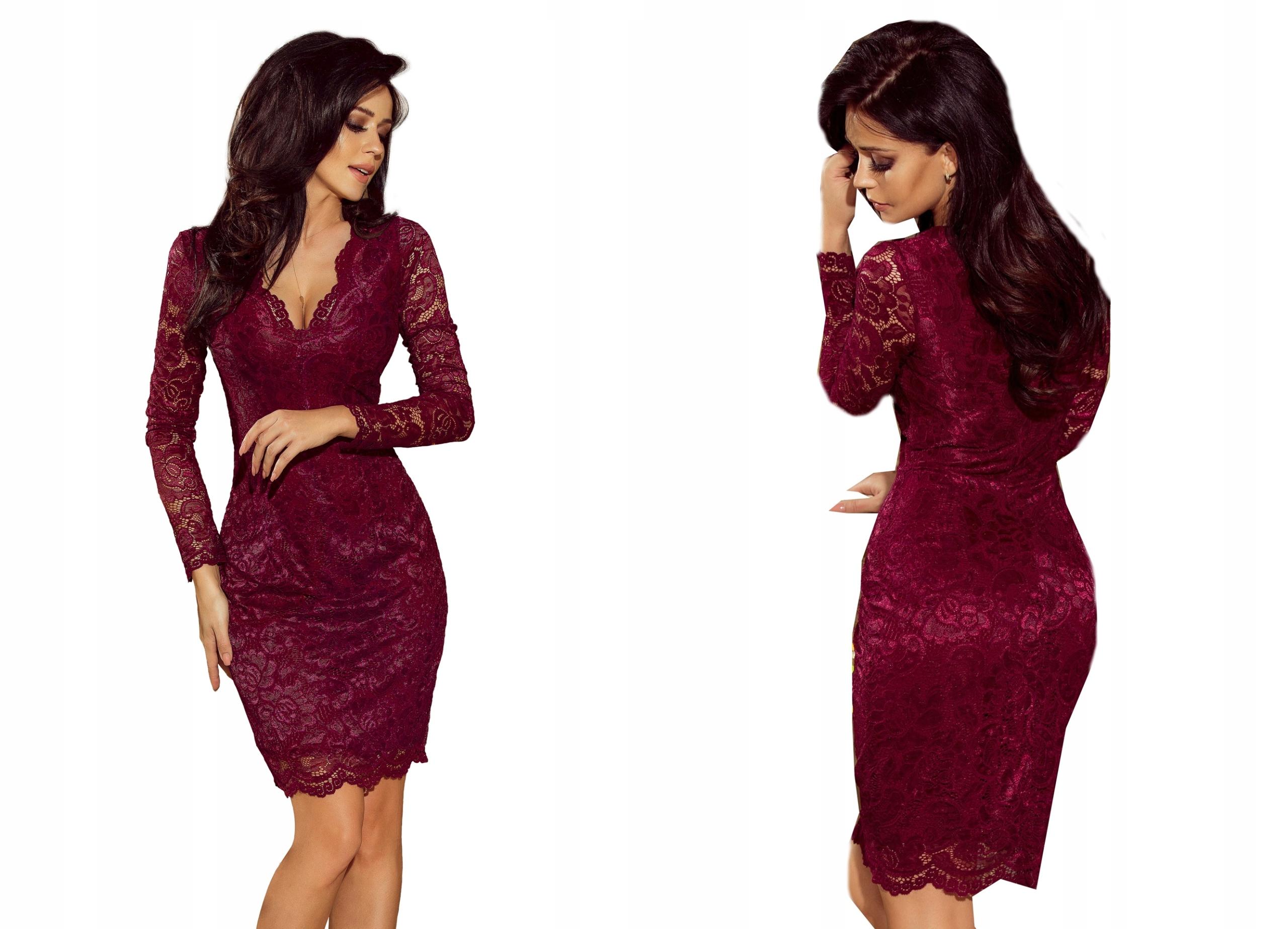 9bee53bdd4 Sukienka KORONKOWA NA IMPREZĘ SYLWESTRA 170-5 S 36 7605560335 - Allegro.pl