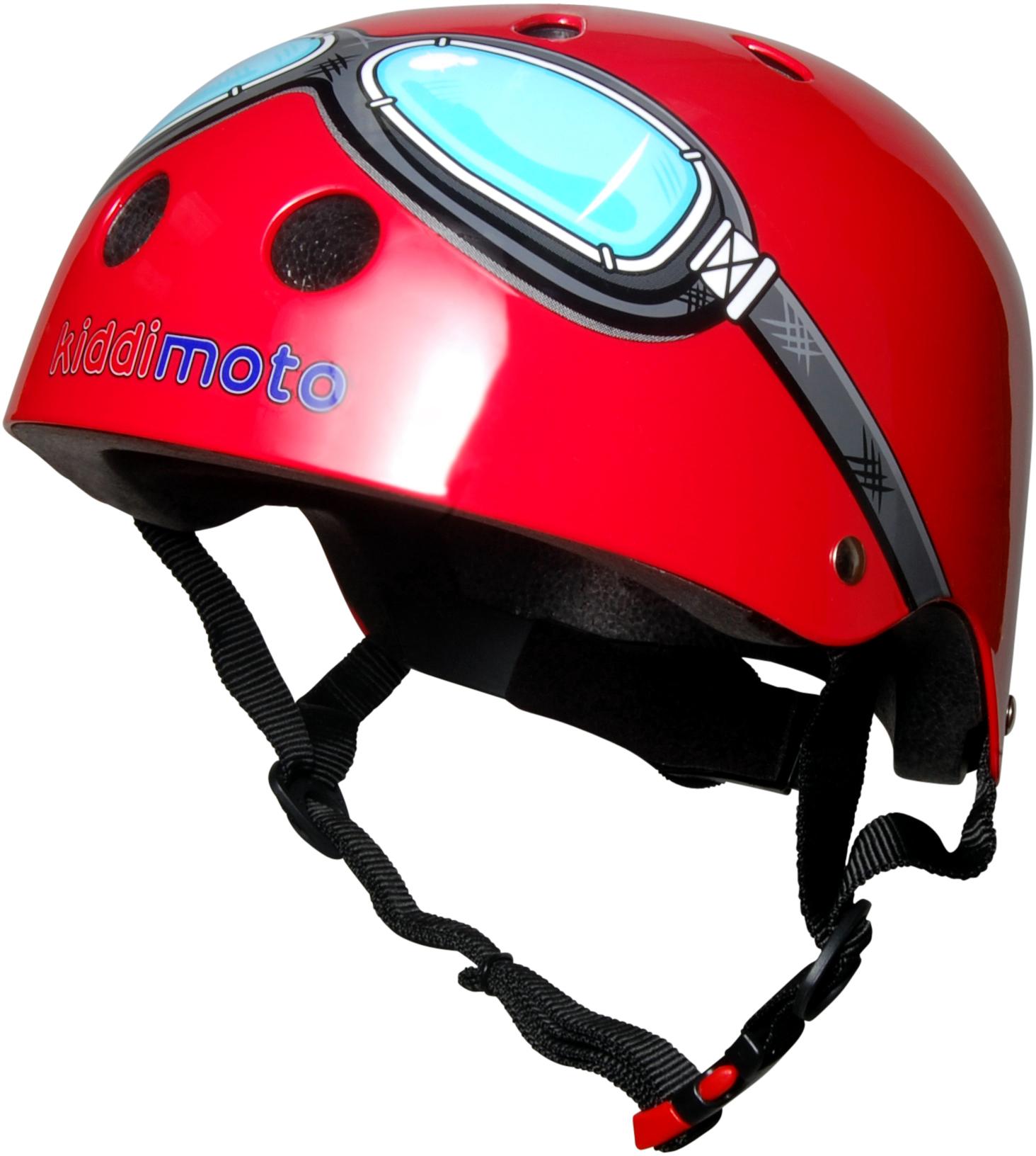 Kiddimoto Goggle Bike Helmet Blue